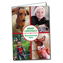 Upload Your Own Holly A5 Christmas Card