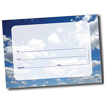 Personalised A5 Clouds Blank Certificates
