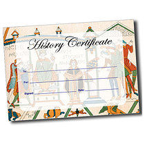 A5 Personalised Bayeux Tapestry History Certificate