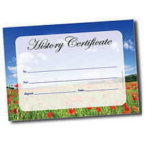 A5 Personalised Poppy Field History Certificate