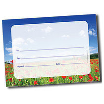 Personalised A5 Poppy Field Blank Certificates