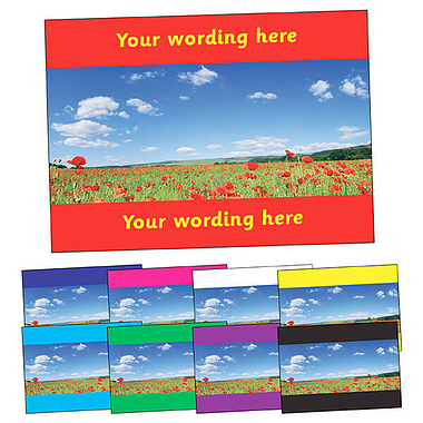 Personalised Poppy Postcard (A6)