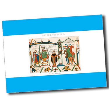 Personalised Bayeux Tapestry Postcard - Cyan (A6)