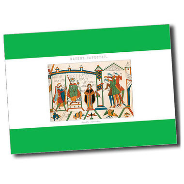 Personalised Bayeux Tapestry Postcard - Green (A6)
