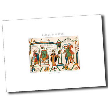 Personalised Bayeux Tapestry Postcard - White (A6)