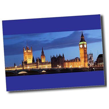 Personalised Parliament Postcard - Blue (A6)