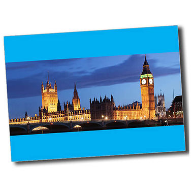Personalised Parliament Postcard - Cyan (A6)