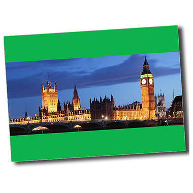 Personalised Parliament Postcard - Green (A6)