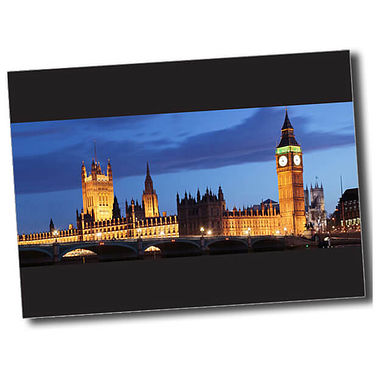 Personalised Parliament Postcard - Black (A6)