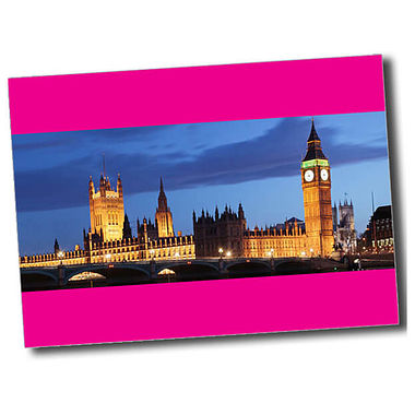 Personalised Parliament Postcard - Pink (A6)