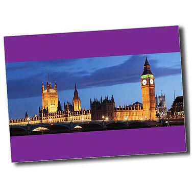 Personalised Parliament Postcard - Purple (A6)