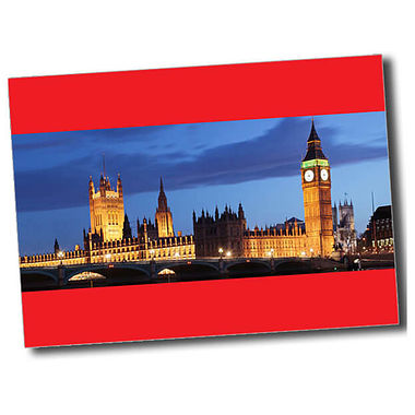 Personalised Parliament Postcard - Red (A6)