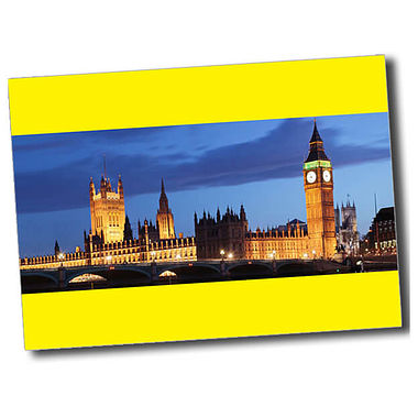 Personalised Parliament Postcard - Yellow (A6)