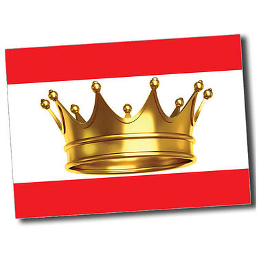 Personalised Crown Postcard - Red (A6)