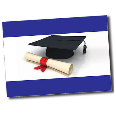 Personalised Graduation Postcard - Blue (A6)