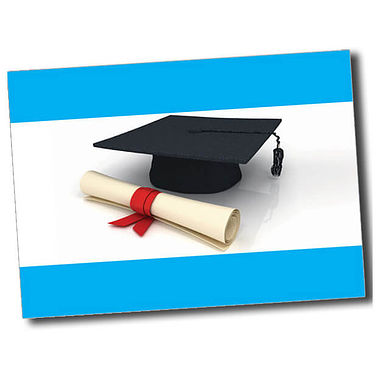 Personalised Graduation Postcard - Cyan (A6)