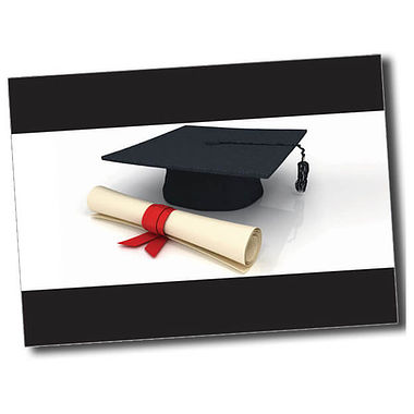 Personalised Graduation Postcard - Black (A6)