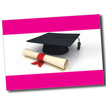 Personalised Graduation Postcard - Pink (A6)