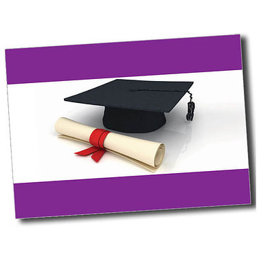 Personalised Graduation Postcard - Purple (A6)
