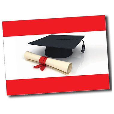 Personalised Graduation Postcard - Red (A6)