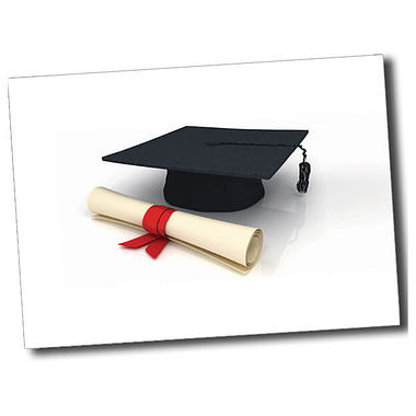 Personalised Graduation Postcard - White (A6)