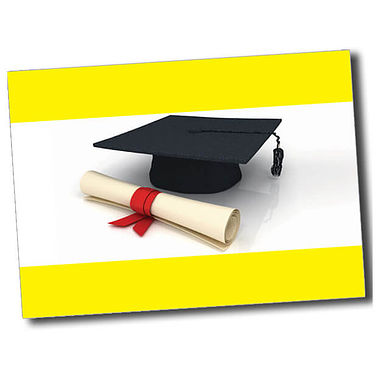 Personalised Graduation Postcard - Yellow (A6)