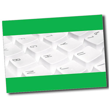 Personalised Keyboard Postcard - Green (A6)