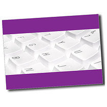 A6 Personalised Keyboard Postcard