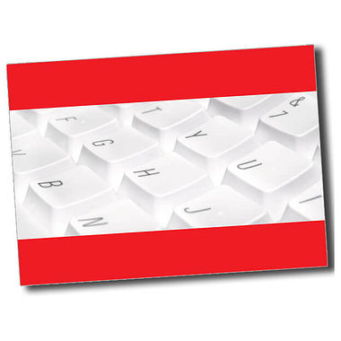 Personalised Keyboard Postcard - Red (A6)