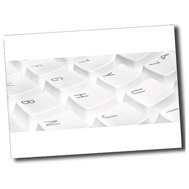 Personalised Keyboard Postcard - White (A6)