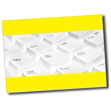 Personalised Keyboard Postcard - Yellow (A6)