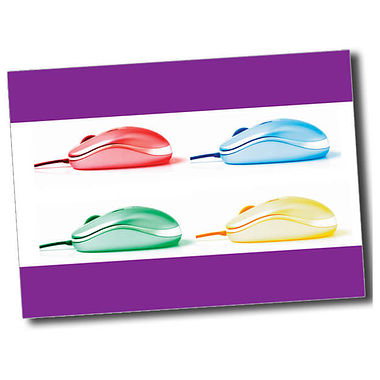 Personalised IT Postcard - Purple (A6)