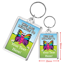 Personalised Butterfly Acrylic Keyring