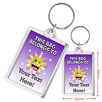 Personalised Monster Acrylic Keyring