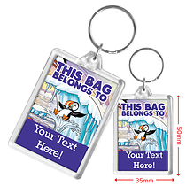 Personalised Puffin Acrylic Keyring