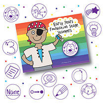 Box of 12 Pedagogs EYFS Stampers FREE INK REFILL