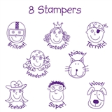 Box of 12 Pedagogs Supergogs Stampers FREE INK REFILL