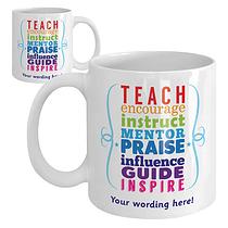 Personalised Motivating Words Ceramic Mug