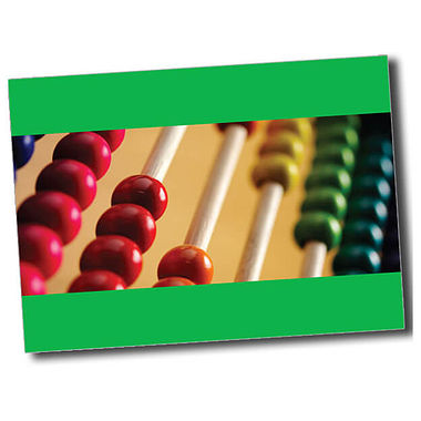 Personalised Abacus Postcard - Green (A6)