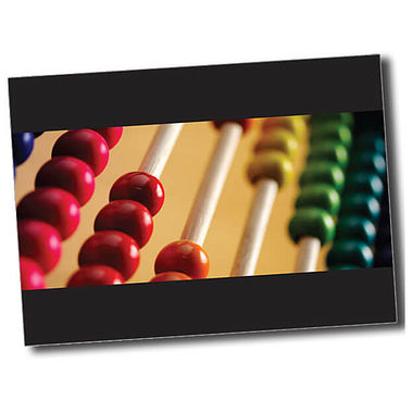 Personalised Abacus Postcard - Black (A6)