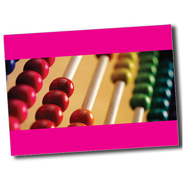 Personalised Abacus Postcard - Pink (A6)