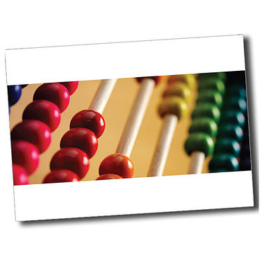 Personalised Abacus Postcard - White (A6)