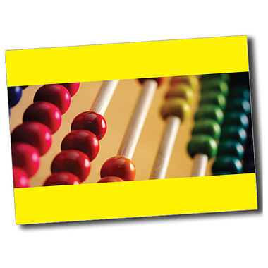Personalised Abacus Postcard - Yellow (A6)