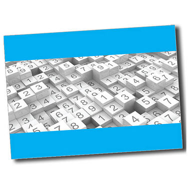 Personalised Numbers Postcard - Cyan (A6)