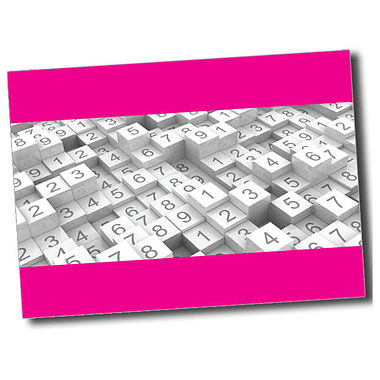 Personalised Numbers Postcard - Pink (A6)