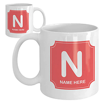 Initial & Name Text Upload Your Own Personalised Ceramic Mug