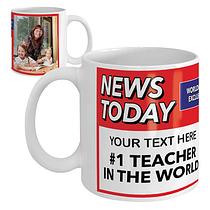 Newspaper Headline Photo & Text Upload Your Own Mug