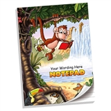 Personalised Jungle Notepad (A4, 50 Page, Lined)