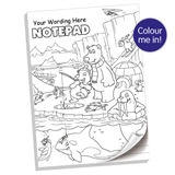 Personalised Colour Your Own Notepad (A4, 50 Pages, Lined)