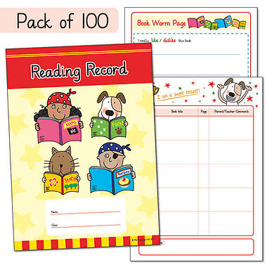 Pack of 100 Pedagogs A5 Reading Record Books